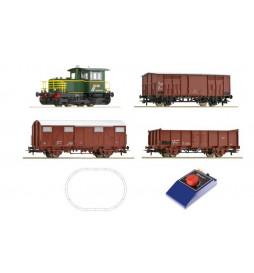 Roco 51158 - Zestaw startowy analogowy z lokomotywą BR 214 i pociągiem towarowym