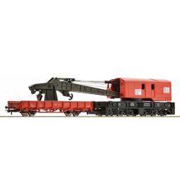 Roco 56240 - Dźwig kolejowy z wagonem technicznym DB AG
