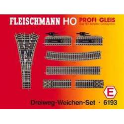 Fleischmann 6193 - Set: 3-way turnouts