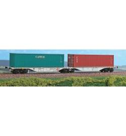 ACME 40280 - Podwójna platforma kontenerowa Sggmrss '90 ŽSSK Cargo, Ep. V - VI + 2 kontenery