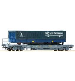 Roco 76747 - Wagon kieszeniowy do przewozu naczep SNCF z naczepą Novatrans