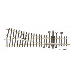 Rozjazd prawy 15grad bez napędu - Tillig H0 82321
