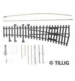 Rozjazd prawy 15grad do montażu - Tillig H0 82431