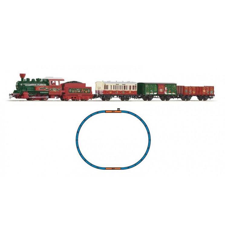 Zestaw Startowy Boże Narodzenie Lokomotywa + 3 Wagony - Piko 57080