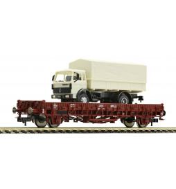 Fleischmann 522703 - Platforma z ciężarówką RENAULT, SNCF, ep. IV