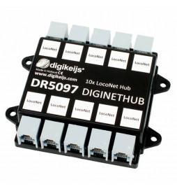Digikeijs DR5097 - DigiNetHub, koncentrator, rozgałęźnik 10x LocoNet
