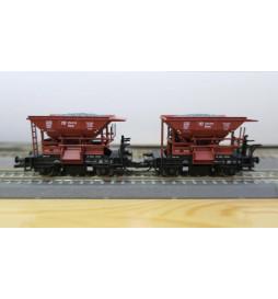 Tillig 501654 - Zestaw 2 wagonów samowyładowczych PKP, szutrówek