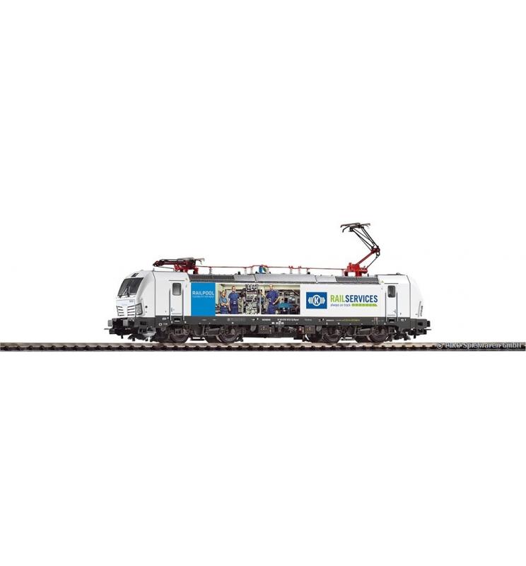 ~Elektrow. Vectron 193 RAIL SERVICES, Knorr Bremse VI, 2 pantog. + lastg. Dec. - Piko 59877
