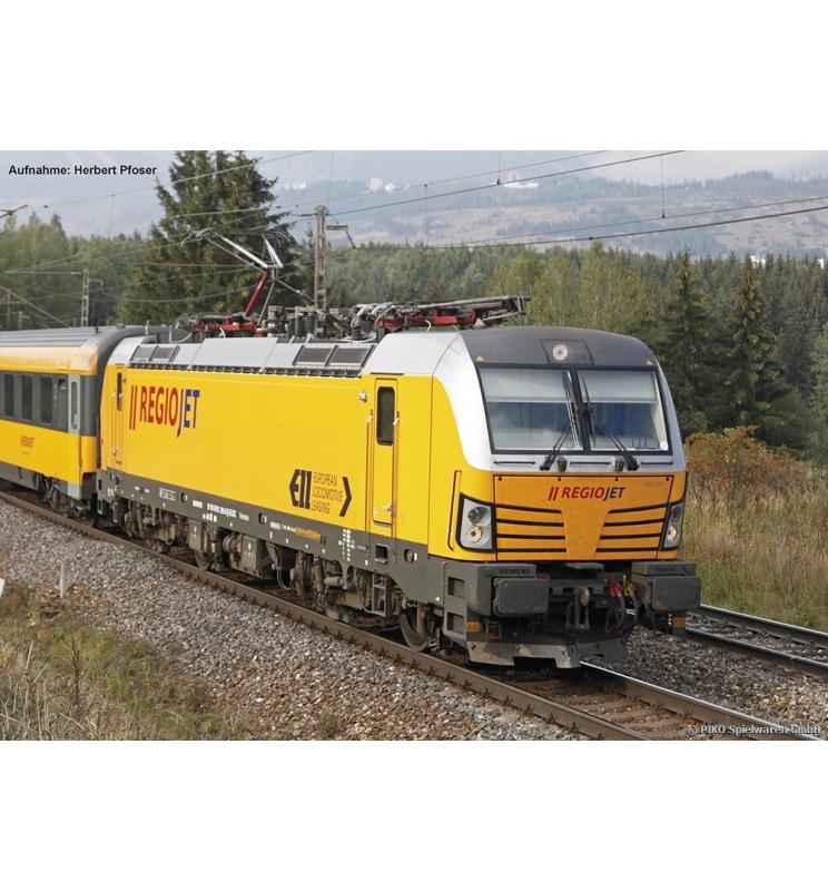 ~Elektrow. Vectron 193 RegioJet CZ VI, vier Pantos + lastg.Dec. - Piko 59880