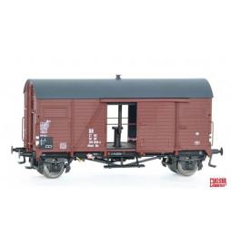 Exact-train EX20037 - Wagon towarowy DR Nordhausen Mannschaftstransportwagen 27 MC 50 DR 205 1018-4 (Msw) Ms (Rollenlager)