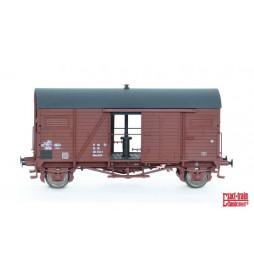 Exact-train EX20039 - Wagon towarowy DR Nordhausen Mannschaftstransportwagen 27 MC 50 DR 222 2314-1 Hkms 2220 (Rollenlager)
