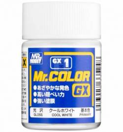 Mr.Hobby GX-1 (GX-001) - Farba Mr. Color, White