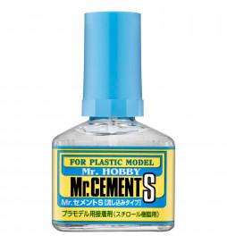 Mr.Hobby MC-129 - MC-129 Mr.Cement S, rzadki klej penetrujący 40ml