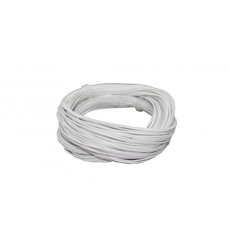 Cienki i elastyczny przewód jednożyłowy do dekoderów i modeli, ø0,5mm, AWG36, 2A, biały / 10m (ESU 51940)