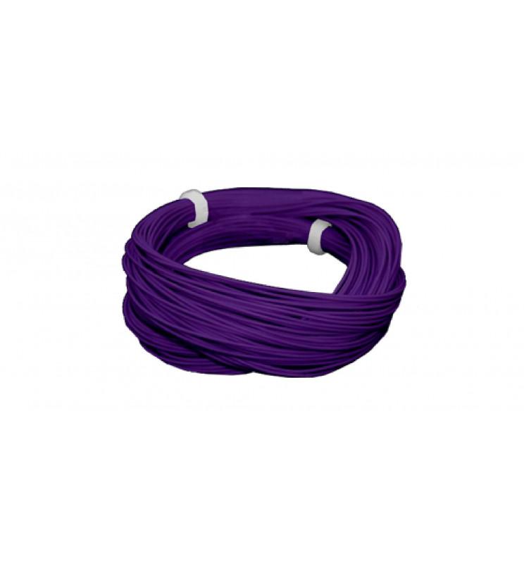 Cienki i elastyczny przewód jednożyłowy do dekoderów i modeli, ø0,5mm, AWG36, 2A, fioletowy / 10m (ESU 51941)