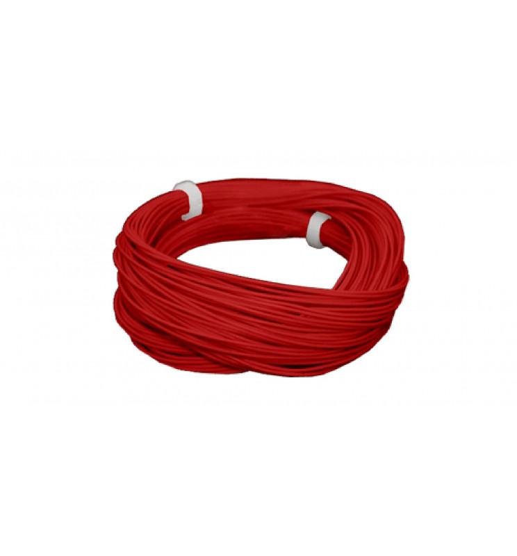 Cienki i elastyczny przewód jednożyłowy do dekoderów i modeli, ø0,5mm, AWG36, 2A, czerwony / 10m (ESU 51943)