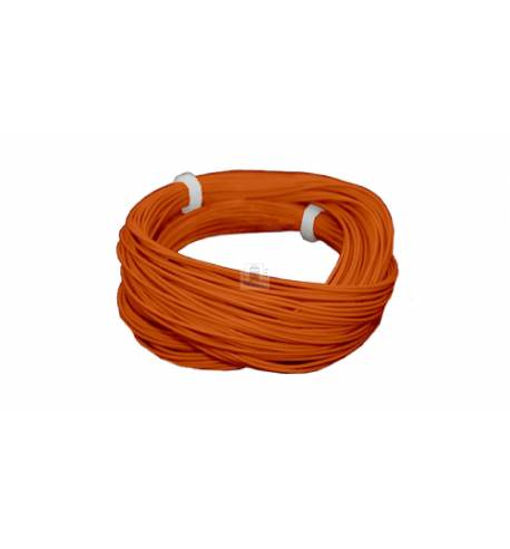 Cienki i elastyczny przewód jednożyłowy do dekoderów i modeli, ø0,5mm, AWG36, 2A, pomarańczowy / 10m (ESU 51944)