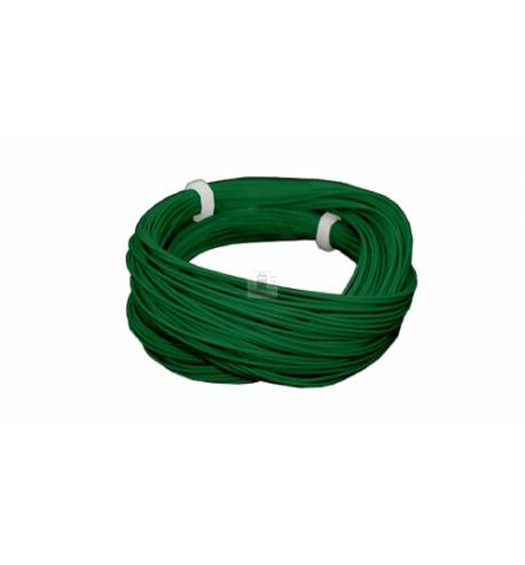 Cienki i elastyczny przewód jednożyłowy do dekoderów i modeli, ø0,5mm, AWG36, 2A, zielony / 10m (ESU 51945)