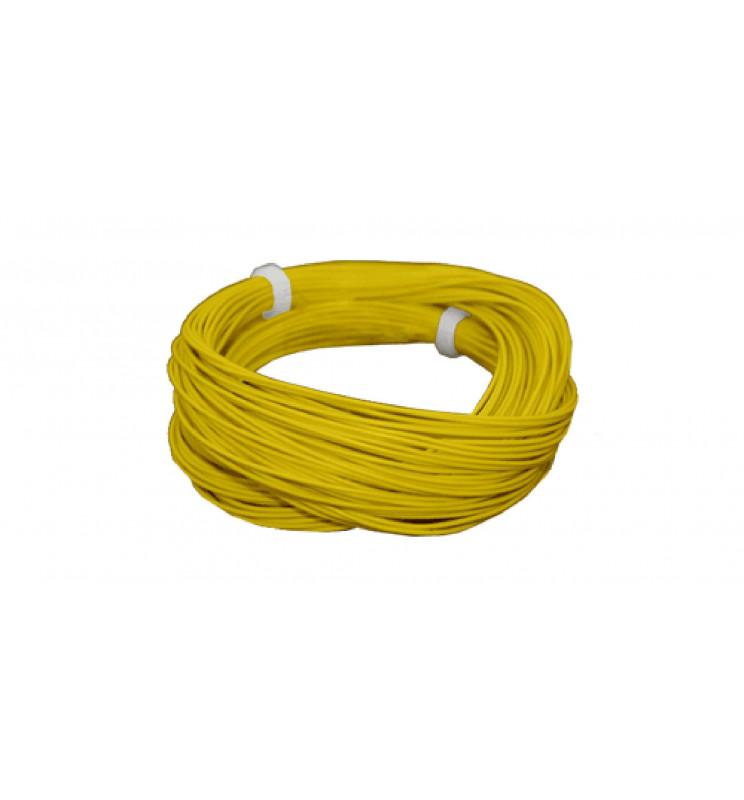 Cienki i elastyczny przewód jednożyłowy do dekoderów i modeli, ø0,5mm, AWG36, 2A, żółty / 10m (ESU 51947)
