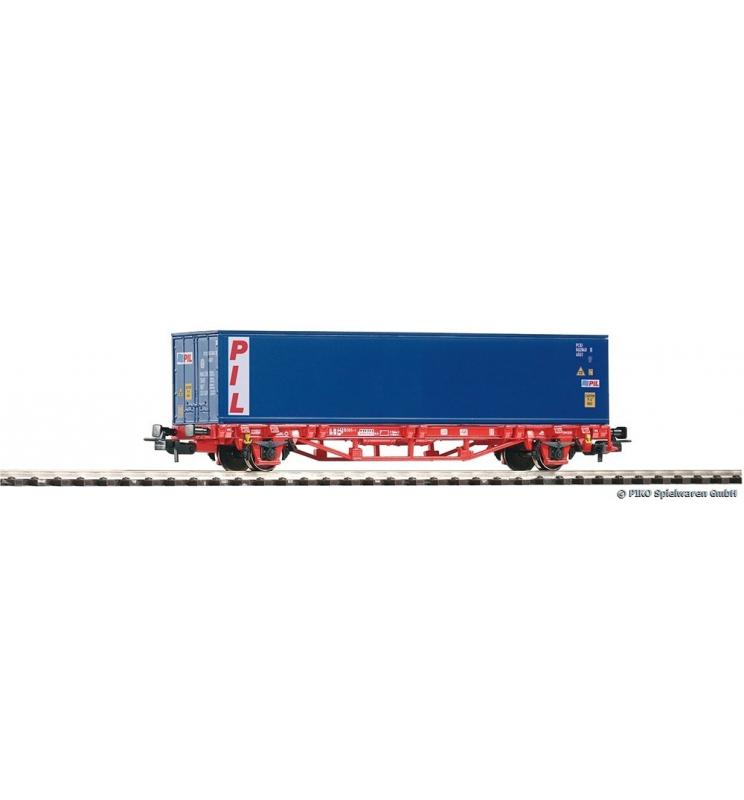 Wagon Towarowy Platforma z kontenerowy 40' PIL DB AG VI - Piko 58714