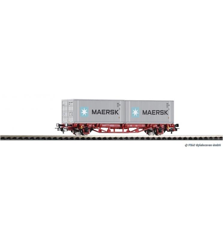 "Wagon Towarowy Platforma z 2 kontener. 20"" Maersk DB AG VI - Piko 58718"