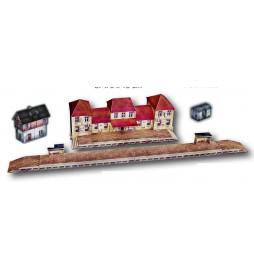 Heki 10120 - Model kartonowy - Dworzec kolejowy
