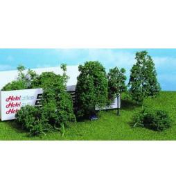 Heki 1632 - Drzewa liściaste i krzewy zielone 15 szt.