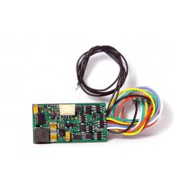Uhlenbrock 36520 - Dekoder dźwięku i jazdy Uhlenbrock IntelliSound 3 DCC 8-pin z przewodami