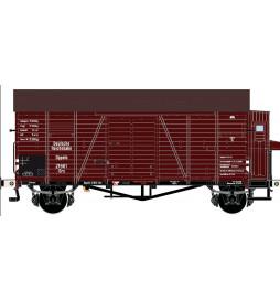 Exact-train EX20197 - Wagon towarowy DRG Oppeln GRS Güterwagen (Bremserhaus/Gleitlager/einsetz in USSR(Weiss bufferhulzen))