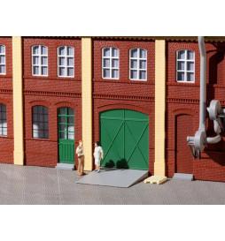 Auhagen 80250 - Drzwi zielone, stopnie, podjazdy