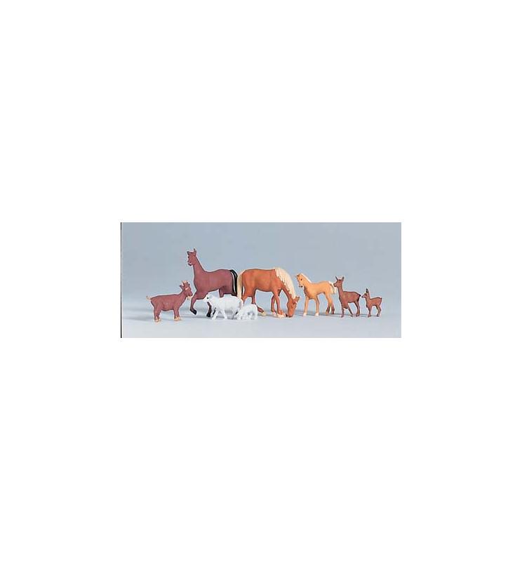 Figurki - zwierzęta - 8 szt. - Piko 55732