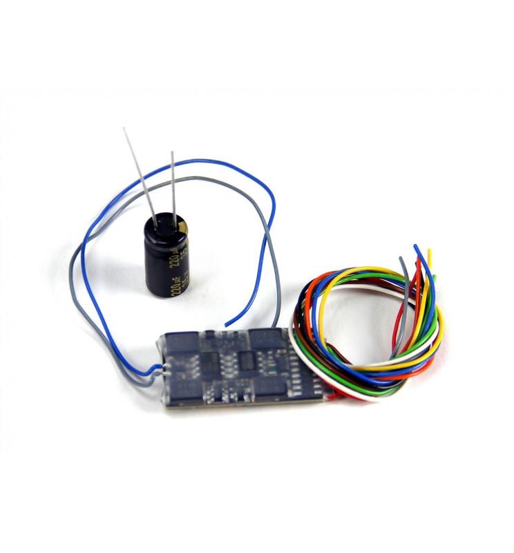 Dekoder jazdy i oświetlenia Zimo MX632V DCC 11-kabli wersja niskonapięciowa 1,5V