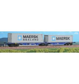 ACME 40274 - Podwójna platforma kontenerowa Sggmrss 90 , Ep. V - VI + 2 kontenery MAERSK