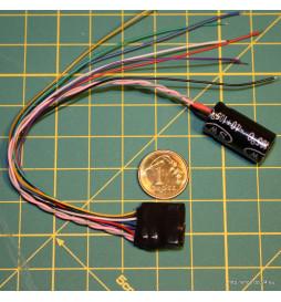 4FuncDec - Dekoder funkcyjny 4 wyjścia 13x14mm