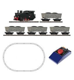 Roco 31029 - Zestaw analogowy H0e Parowóz HF + 4 wagony