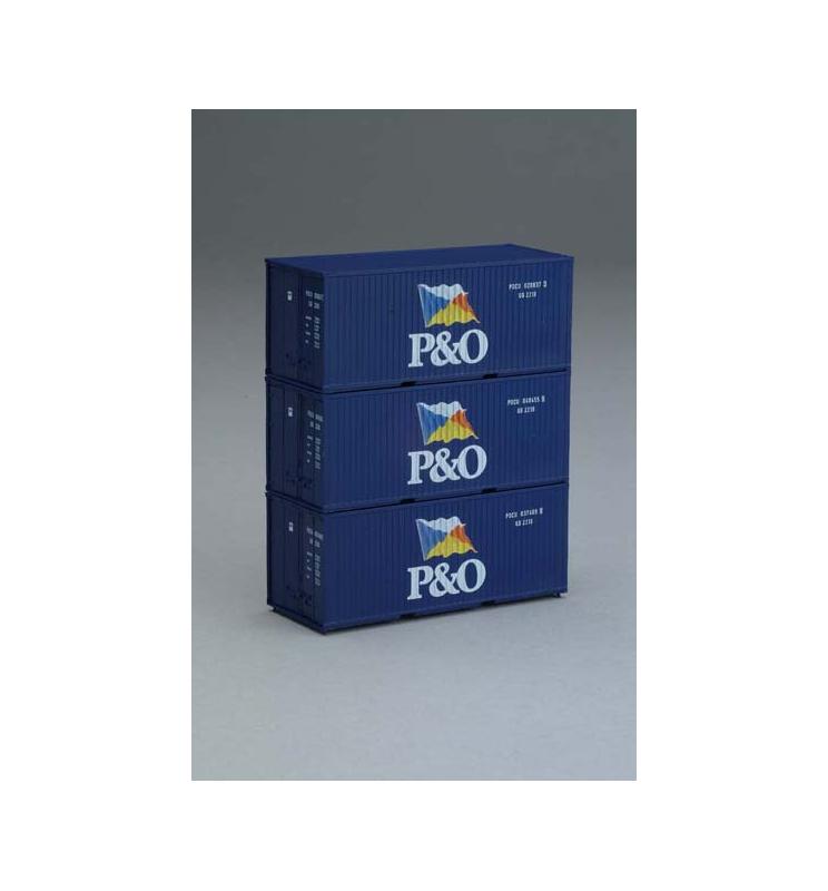Kontenery 20' P&O Zestaw 3 szt. - Piko 56200