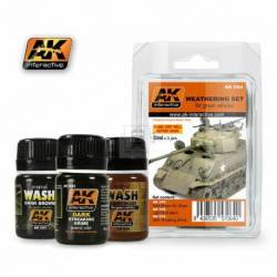 AK-064 - GREEN VEHICLES WEATHERING SET ( AK Interactive 064 )