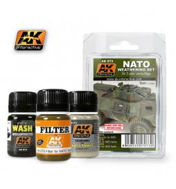 AK-073 - NATO WEATHERING SET ( AK Interactive 073 )