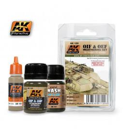 AK-120 - OIF & OEF - US VEHICLES WEATHERING SET ( AK Interactive 120 )