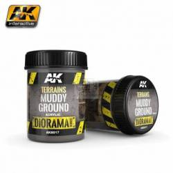 AK-8017 - TERRAINS MUDDY GROUND - 250ml (Acrylic) ( AK Interactive AK8017 )