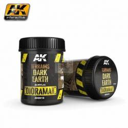 AK-8018 - TERRAINS DARK EARTH - 250ml (Acrylic) ( AK Interactive AK8018 )