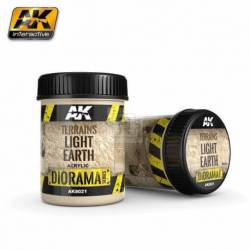 AK-8021 - TERRAINS LIGHT EARTH - 250ml (Acrylic) ( AK Interactive AK8021 )