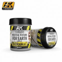 AK-8023 - TERRAINS NEUTRAL TEXTURE - 250ml (Acrylic) ( AK Interactive AK8023 )