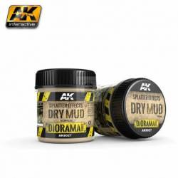 AK-8027 - SPLATTER EFFECTS DRY MUD - 100ml (Acrylic) ( AK Interactive AK8027 )