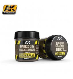 AK-8032 - DARK & DRY CRACKLE EFFECTS - 100ml (Acrylic) ( AK Interactive AK8032 )