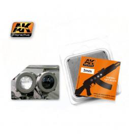 AK-221 - BLACK & WHITE 3mm ( AK Interactive AK221 )