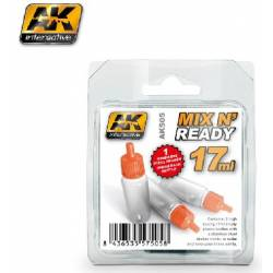 AK-505 - MIX AND READY - Acrylics (6 Empty 17ml jars WITH SHAKER BALL) ( AK Interactive AK505 )