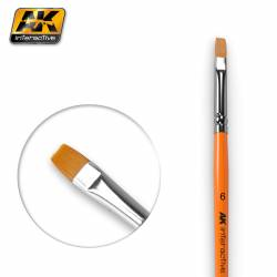 AK-611 - FLAT BRUSH 6 SYNTHETIC ( AK Interactive AK611 )