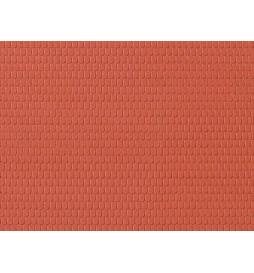 Auhagen 52416 - Płytka dekoracyjna z polistyrenu: dachówka czerwona