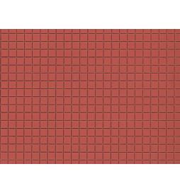 Auhagen 52422 - Płytka dekoracyjna z polistyrenu: chodnik czerwony